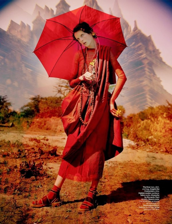 """EDITORIAL W Magazine May 2014 """"Gilt Trip"""" Feat. Edie Campbell by Tim Walker 2"""