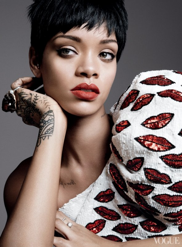 COVER & EDITORIAL Vogue US March 2014 Feat. Rihanna by David Sims