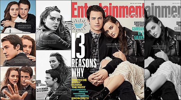 Voici un nouveau photoshoot de Kath & Dylan pour le magazine Entertainment Weekly. Kath & Dylan sont en couverture pour le numero du 19 mai dont le magazine parle de la série 13 Reasons Why. Très belle photos **.