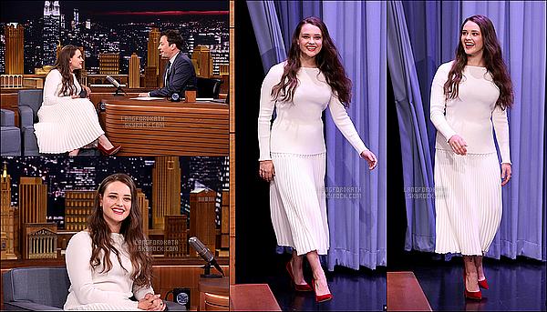 12 / 05 / 17 : Katherine a été sur le plateau deThe Tonight Show animé par Jimmy Fallon. Katherine a été très ravissante lors du show ainsi que souriante. Sa tenue est Top vêtue en blanche. Elle a pu parler de la série. ^^