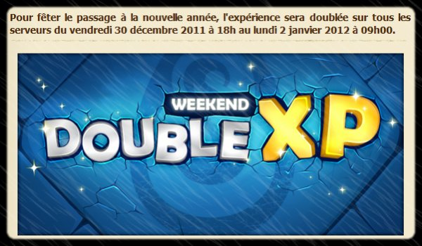 Un article avant le rush xp !