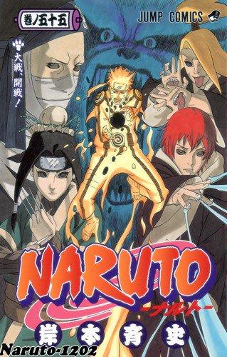 Découvrez en exclu sur Naruto-1202 la couverture du manga 55 de......Naruto !!