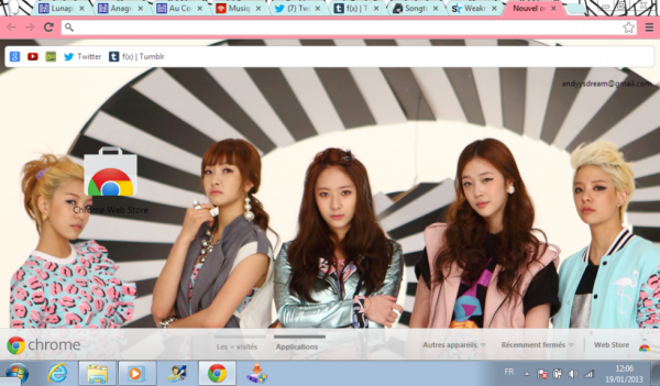 Mon theme google chrome f(x)