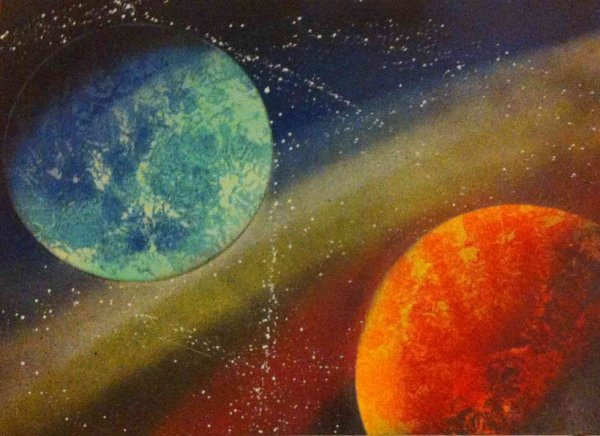 space painting