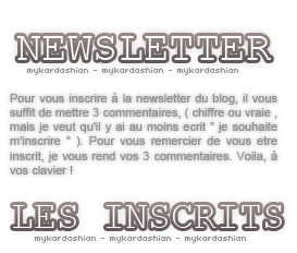myKARDASHIAN : Blog-fan sur Kim Kardashian Newsletter
