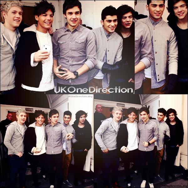"""* ♦ 19/02/2012 : Les 1D se sont rendus à la BBC pour fêter un joyeux anniversaire à Chris Moyles. + Niall et Zayn ont posés pour """"Trinity Stars"""". Ce mois si, les One Direction font la couverture du magazine.  *"""