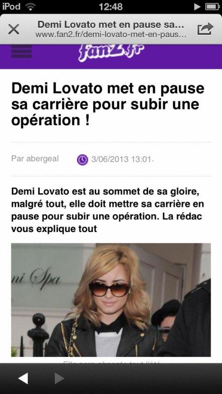 Demi fait une pause dans sa carrière