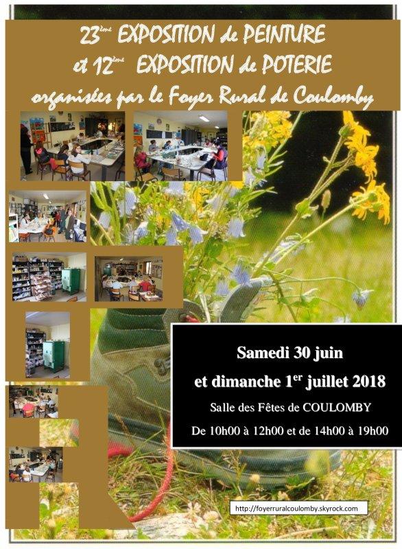 EXPO de PEINTURE et de POTERIE 2018