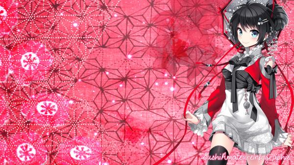 Wallpaper fille kimono