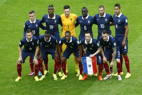 """Les """"Bleus"""" : L'équipe de France 2014."""