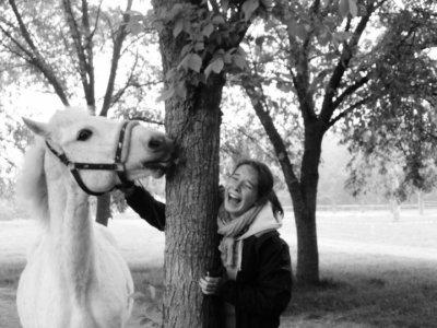 Le cheval et son cavalier. Qui ne font qu'un parce qu'ils sont deux. ♥