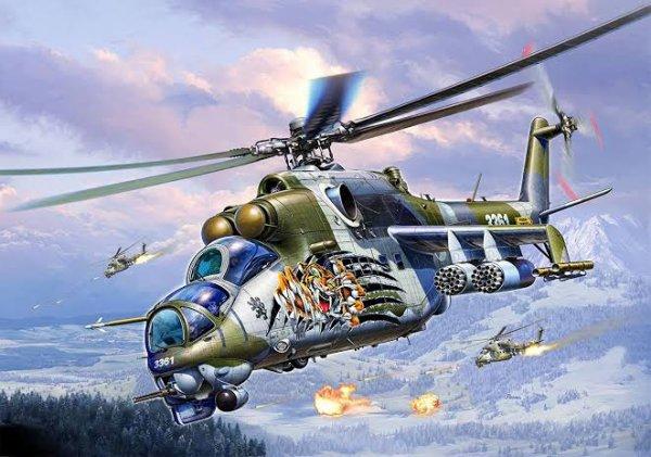 Mi-24PN : version modernisée par Rosvertol du Mi-24P, doté de capacités d'attaques nocturne, d'un FLIR Zarevo, d'un nouveau système d'arme BREO-24 et d'une nouvelle avionique. Il peut être armé des missiles anti-char Shturm et Ataka, de roquette et d'un canon bitube de 23 mm. Les premiers appareils ont équipé l'armée russe début 2004.