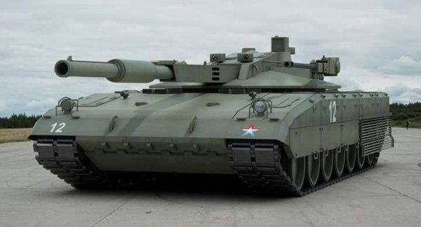 Le T-14 utilise la conduite de tir Kalina. Le chef de char dispose d'un viseur panoramique gyrostabilisé Hawkeye monté au sommet de la tourelle. Il intègre une voie jour et nuit (thermique), en l'absence d'oculaire, l'image est observée sur un écran plat. L'opérateur de la tourelle dispose d'une version modifiée du viseur gyrostabilisé SOSNA-U, ce dernier incorpore une voie jour et nuit (thermique) ainsi qu'un télémètre laser. Ces deux viseurs sont conçus et produits par la société biélorusse Peleng. Ces trois systèmes sont aussi présents sur le T-90MS