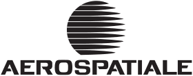 Depuis 1974, l'Aérospatiale communique au niveau commercial avec un logo en minuscules (« aerospatiale ») puis en capitales (« AEROSPATIALE ») dont le premier « e » est volontairement dépourvu d'accent aigu.