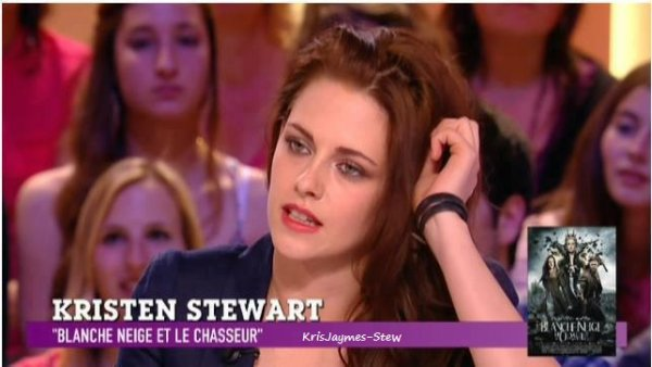 Kristen et Charlize au Grand Journal le (9.03.12)