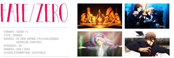 Fiche anime : Fate/Zero