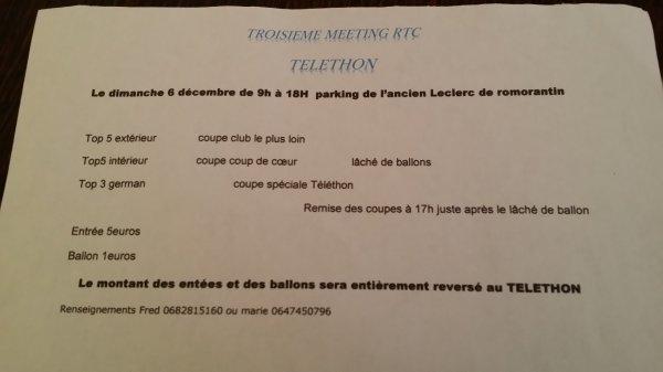 3éme meeting du RTC pour le telethon