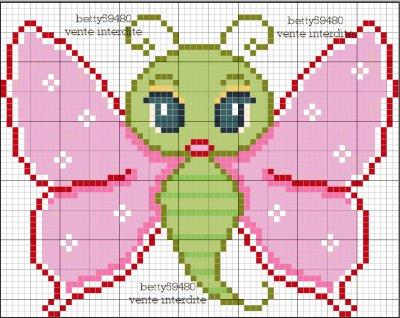 grille papillon