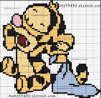 grille mini winni  et une tigrou bébé
