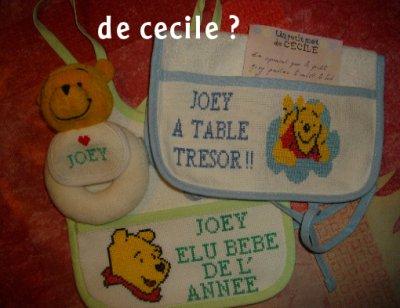 voici tous les cadeau du concour que joey a recu