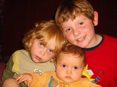 mes 3 petits mecs!!!