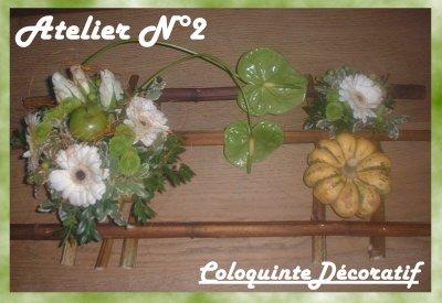 Atelier  n°2 Coloquinte décoratif 10/07