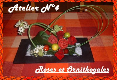 Atelier  n°4 Roses et ornithogales