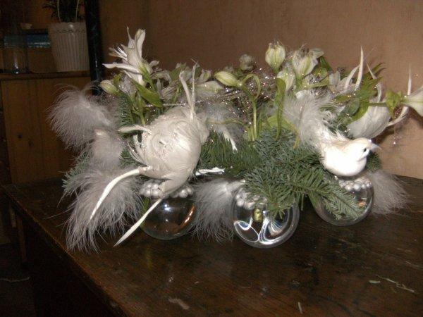 Centre de table pour no l version jour la passion des fleurs - Centre de table pour noel ...