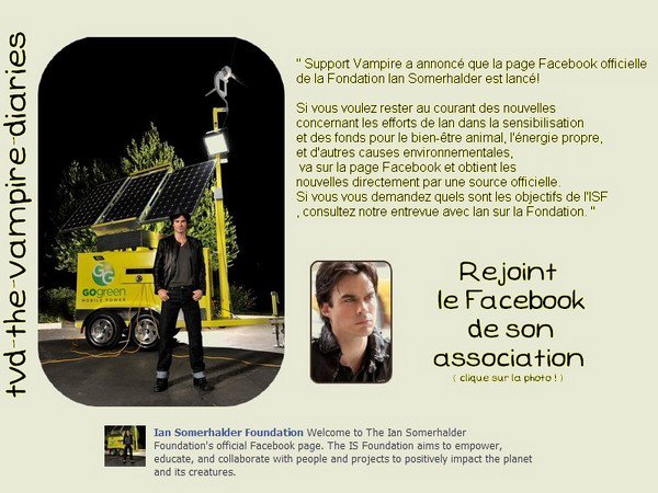 """ Vampire Support announced that the OFFICIAL Facebook page of the Ian Somerhalder Foundation has launched! If you want to stay on top of news related to Ian's efforts in raising awareness and funds for animal welfare, clean energy, and other environmental causes, give the page a ""like"" on Facebook and gets news straight from an official source. If you're wondering what the ISF's goals are, check out our interview with Ian about the Foundation. ""iiiiiiiiiiiiiiiiiiiiiiiiiiiiiiiiiiiiiiiiiiiiiiiiiiiiiiiiiiiiiiiiiiiiiiiiiiiiiiiiiiiiiiiiiiiiiiiiiiiiiiiiiiiiiiiiiiiiiiiiiiiiiiiiiiiiiiiiiiiiiiiiiiiiiiiiiiiiiiiiiiiiiiiiiiiiiiiiiiiiiiiiiiiiiiiiiiiiiiiiiiiiiiiiiiiiiiiiiiiiiiiiiiiiiiiiiiiiiiiiiiiiiiiiiiiiiiiiiiiiiiiiiiiiiiiiiiiiiiiiiiiiiiiiiiiiiiiiiiiiiiiiiiiiiiiiiii+   Stills de l'épisode 11 sur nos écran à partir du 10 décembre "" By the light of the moon """