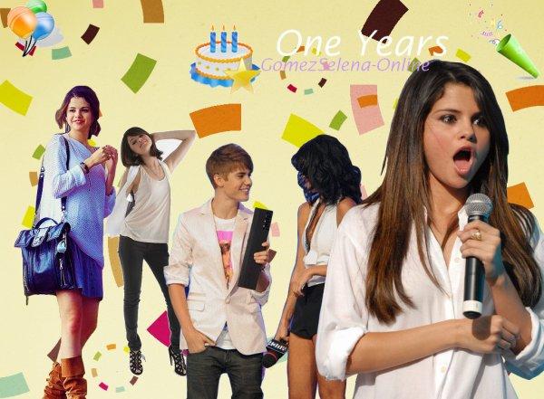 Aujourd'hui, 4 mars 2012, sa fait tout juste 1 ans que GomezSelena-Online existe ღ