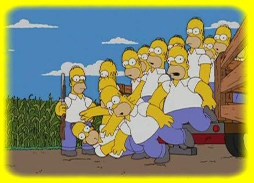 Homer se débarrasant d'Homer ... ^^