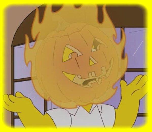 Homer : La Citrouille en feu ! =)