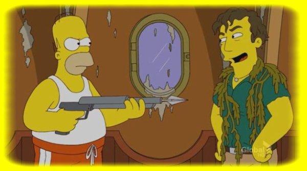 Homer s'apprêtant à tuer Roger =)