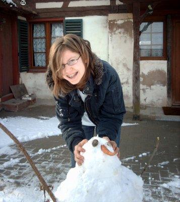 Le bonhomme de neige!!