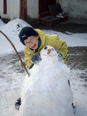 Le bonhomme de neige!!(suite)