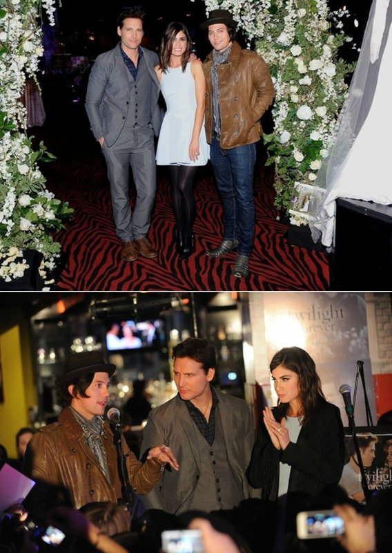 Peter, Nikki et Jackson à l'exposition Twilight Forever à New York