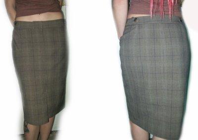 Jupe ecossaise marron H&M type tailleur