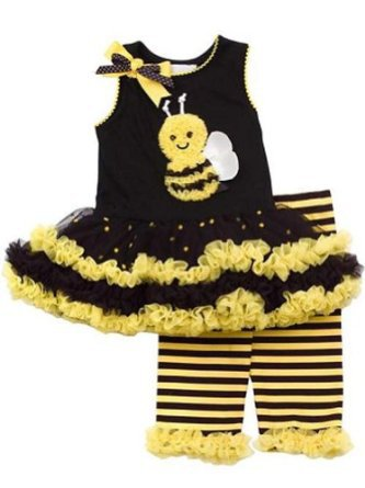 Girls Rare Editions New Bumble Bee Tutu Dress Set