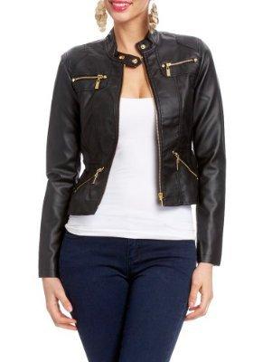 2B Zipper Leatherette Jacket