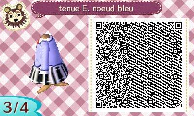 tenue ecoliere chemise bleu/violette