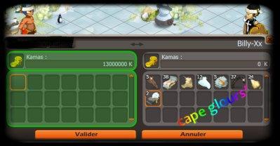 Une cape glours : 13 000 000