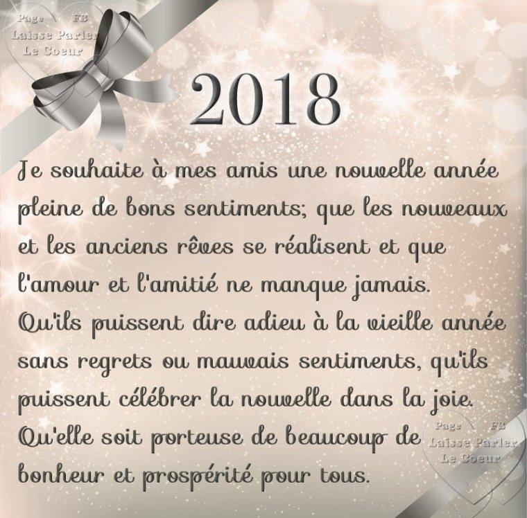 Bonne et heureuse année à tous ...