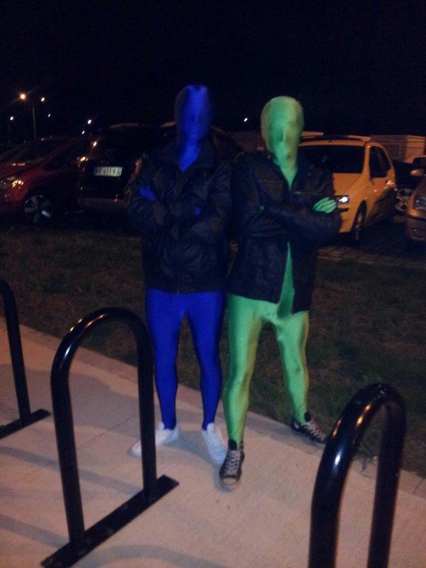 Bleu et Vert S'habillle pour l'hiver...
