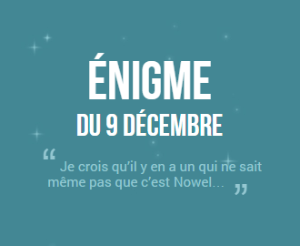 Calendrier de l'avent 2014 ! #9 (SPOIL SOLUTION)