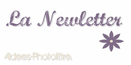 Aidees-Photofiltre ~ Newletter