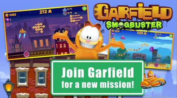 Le chat Garfield vous invite dans son jeu Garfield Smogbuster