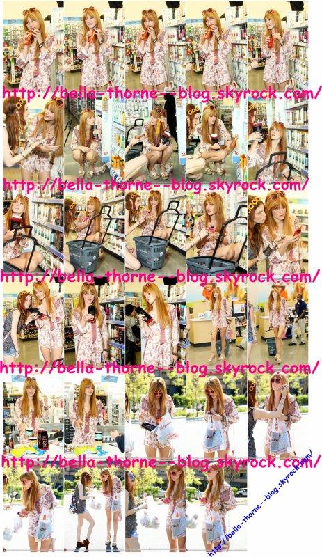 Bella et sa soeur Dani dans un magasin le : 25/04/13 .