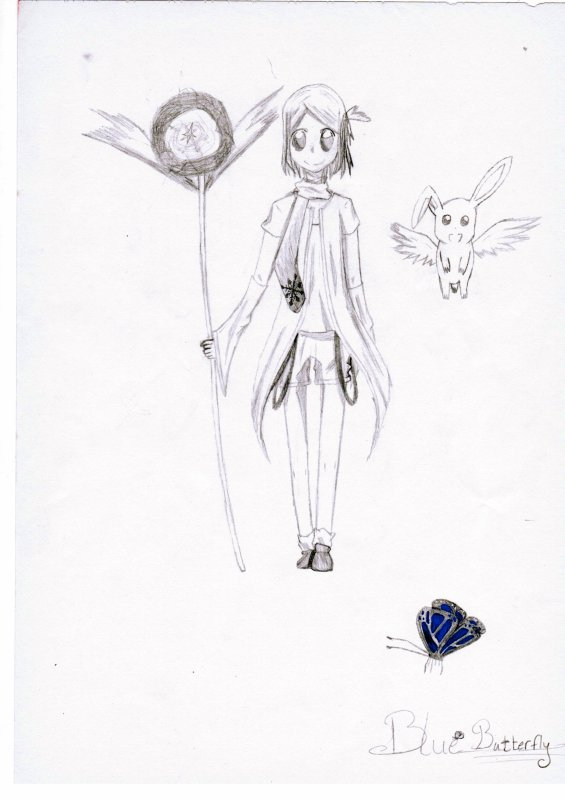 Dessin d'une magical girl