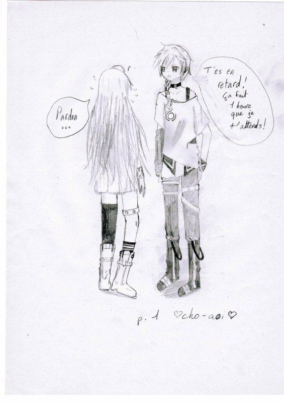 Dessin de IA et de Miku (Vocaloid)