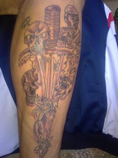 creation de mon tatouage et mise en pratique ....